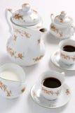 Kaffee- oder Teeset. lizenzfreie stockfotos