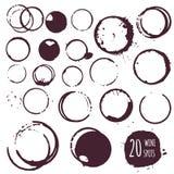 Kaffee- oder Weinfleck, runde Stellen vektor abbildung