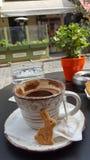 Kaffee an Ostern-holydays Stockbilder