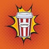 Kaffee-Papierschale Stockbilder