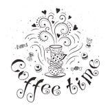 Kaffee-Plakat Stockfotos