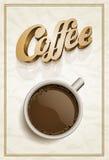 Kaffee-Plakat-Schablone Lizenzfreies Stockbild