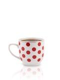 Kaffee-Schale mit weißem Kopienraum Stockbild
