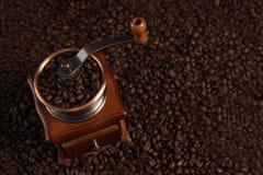 Kaffee-Schleifer-Nahaufnahme Stockbild