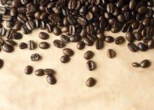 Kaffee-Schmutzhintergrund Stockbild