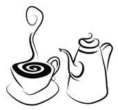 Kaffee-Set Stockfoto
