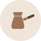 Kaffee-Türkevektor Stockbild