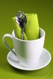 Kaffee-Tabellen-Einstellung Stockfotos