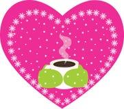 Kaffee/Tee im Winter Stockfotos