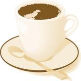 Kaffee, Tee oder heiße Schokolade lizenzfreie abbildung