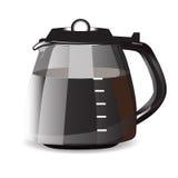 Kaffee-Topf für Espresso Auch im corel abgehobenen Betrag Stockbild