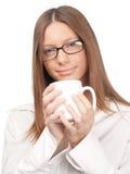 Kaffee trinken Stockfoto