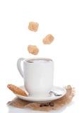 Kaffee u. Biskuit stockbild