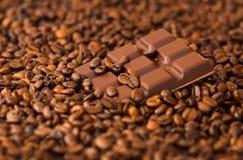 Kaffee u. Schokolade Stockbild