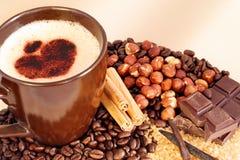 Kaffee und Aromen Lizenzfreie Stockfotos