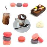 Kaffee- und Bäckereisatz Stockbilder