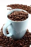 Kaffee und Becher lizenzfreies stockbild