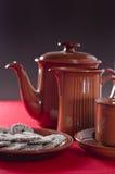 Kaffee und Biskuite Lizenzfreie Stockbilder