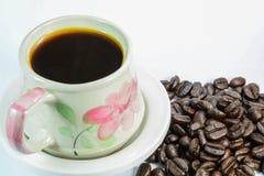 Kaffee und Bohne Stockfotografie