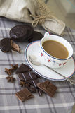 Kaffee und choco Hintergrund 19 Stockbilder