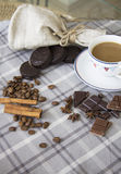 Kaffee und choco Hintergrund 31 Lizenzfreie Stockfotografie