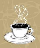 Kaffee und Dampf Stockbild