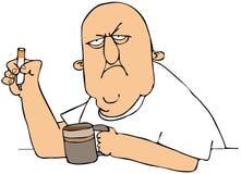 Kaffee und eine Zigarette Stockfotografie