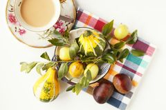 Kaffee und Früchte Lizenzfreies Stockbild