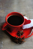 Kaffee und Herz Stockfotos