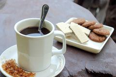 Kaffee und Imbiss Stockbild