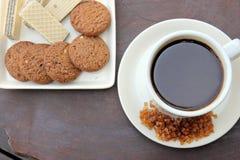 Kaffee und Imbiss Lizenzfreie Stockfotografie