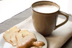 Kaffee und Ingwer. Stockbilder