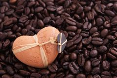 Kaffee und Inneres Stockbild