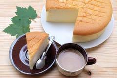 Kaffee und Käsekuchen Lizenzfreie Stockfotos