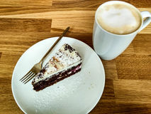 Kaffee und Käsekuchen stockbilder