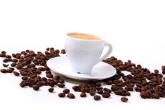 Kaffee und Körner Stockfoto