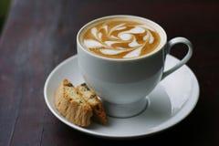 Kaffee und Kaffeekunst Lizenzfreies Stockfoto