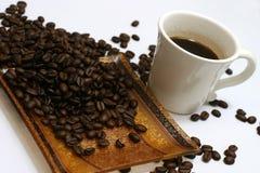 Kaffee und Kaffeestartwerte für zufallsgenerator Lizenzfreie Stockbilder
