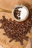 Kaffee und Kessel Lizenzfreies Stockbild