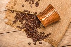 Kaffee und Kessel Lizenzfreies Stockfoto