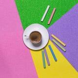 Kaffee und Kreativität Stockbild