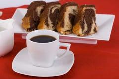 Kaffee und Kuchen Stockbild