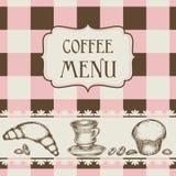 Kaffee- und Kuchenmenü vektor abbildung