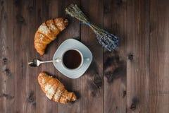 Kaffee und Lavendel Lizenzfreie Stockbilder