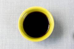 Kaffee und Leinwand Lizenzfreies Stockbild