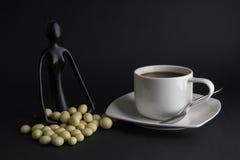 Kaffee und Meditation Stockfoto