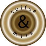 Kaffee und Milch lizenzfreie abbildung