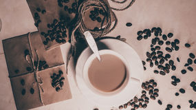 Kaffee und Milch Lizenzfreies Stockfoto