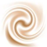 Kaffee- und Milchsahnebeschaffenheit Lizenzfreie Stockbilder