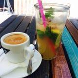 Kaffee- und Minzenlimonade Lizenzfreies Stockbild